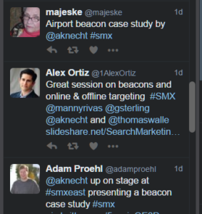 Tweets of Beacons session
