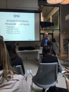 Alan K'necht addresses Social Media Week Toronto